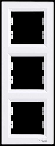 asfora–Rahmen, Set von 3Rahmen senkrecht, Schneider Electric, Colour, weiß, New