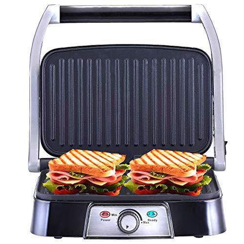 NETTA 1500W elektrischer Kontaktgrill Tischgrill Sandwichtoaster | Sandwich elektro Grill | Panini-Maker kleiner Multigrill | Anti-Haftbeschichtung