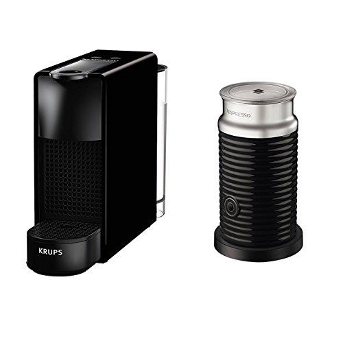 Krups Nespresso Essenza Mini XN1118 Kaffeekapselmaschine 1260 Watt, 0,7 Liter, 19 bar, inklusive Aeroccino Milchaufschäumer schwarz