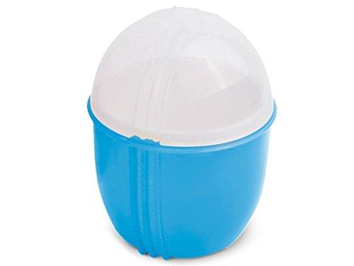 Durandal Eierkocher Mikrowelle Klein in Blau | Crackin Egg Mikrowellen Eierkocher | Ideal zum Eierkochen und als Omelettmaker | 100% BPA Frei