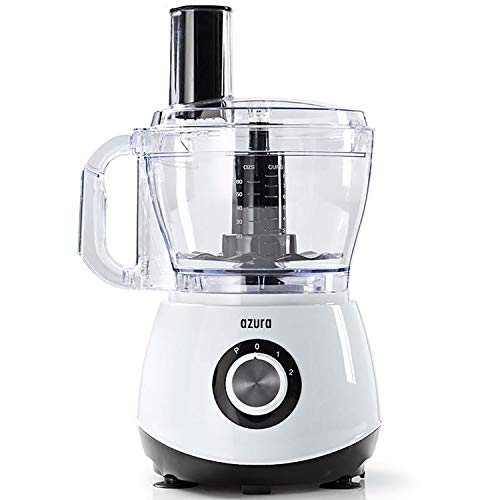 Food Processor, Küchenmaschine 800 Watt 2 Liter Behälter – BPA frei – inkl. Standmixer, Kaffeemühle, Spiralschneider, Zerkleinerer, Mixer