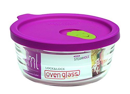 Lock & Lock LLG741 Ovenglas für Mikrowelle und Ofen, Glas, tranparent, 11.9 X 5.4 X 5.4 cm