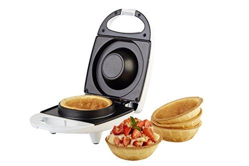 Waffeleisen Waffel Toaster Weiß 15.5 x 22 x 9.5 cm – KORONA 41010 Waffelcup-Maker für 10 cm Durchmesser