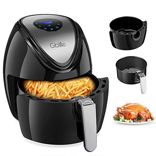 Heißluftfritteuse Friteuse Digital Intelligent 1500W Air Fryer mit 7 Modi 3.5L Touch Control Temperaturregelung60-200°C Abnehmbarer Korb