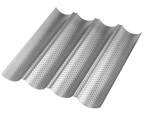 Tebery 4 mulden Antihaft Baguette-Backblech Baguetteform , 38*33*2.5cm