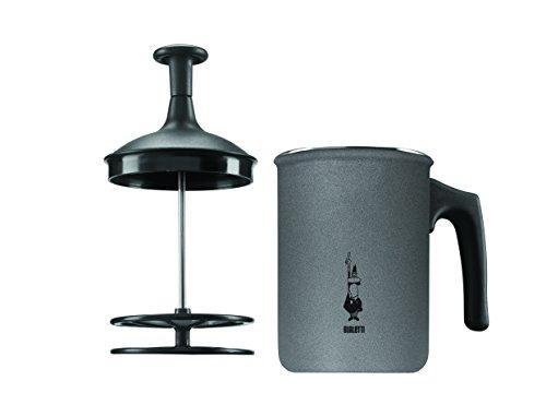 Bialetti Tutto Crema Milchaufschäumer 6 Tassen mit Doppelsieb für einen stabilen Milchschaum