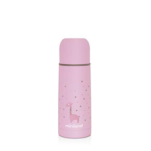 Miniland Isolierflasche 350ml für Babynahrung – SILKY THERMOS ROSE