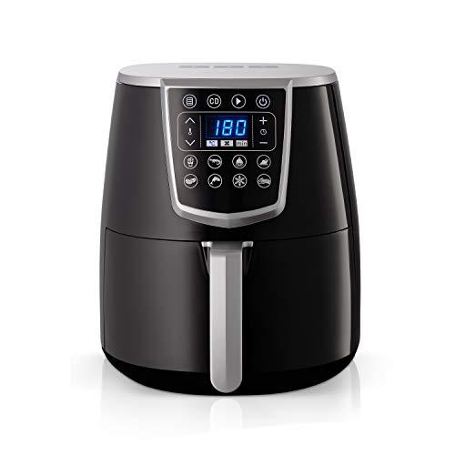Gemlux Air Fryer AF-15 | Multikocher für gesunde Snacks & Mahlzeiten | Heißluftfritteuse für zu Hause | Tragbar & für professionellen Einsatz geeignet | Für Spülmaschine & Geschirrtrockner geeignet
