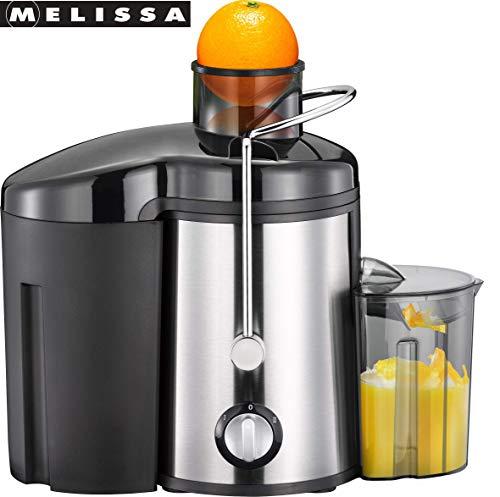 MELISSA 16230040 Entsafter, Gemüsesaft,Edelstahl, mit 0,45 Liter Saftbehälter, Für Obst und Gemüse, 400 Watt, 13000 UPM
