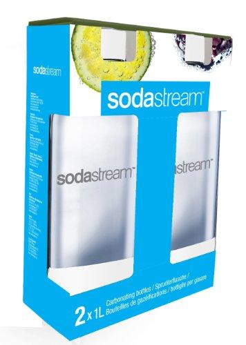 SodaStream 1-Liter-Flaschen, Doppelpack, Weiß weiß