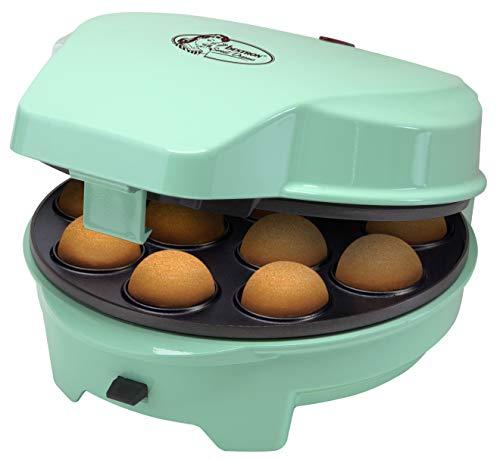 Bestron 3-in-1 Cakemaker im Retro Design, Für Donuts, Muffins und Cakepops, Sweet Dreams, Antihaftbeschichtung, 700 W, Mint
