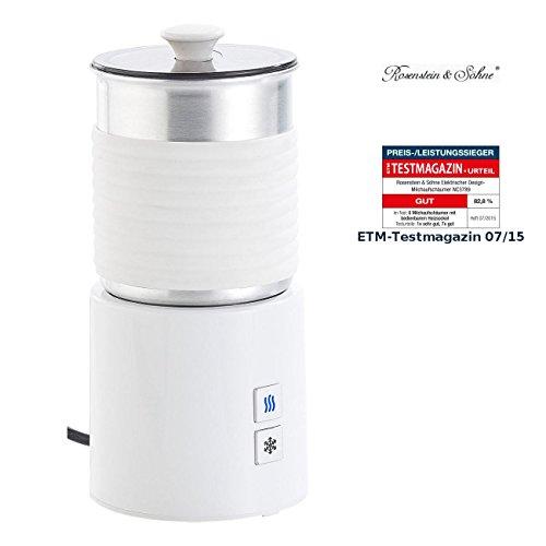 Rosenstein & Söhne Aufschäumer: Premium Design-Milchaufschäumer, Magnet-Quirl, Spülmaschinenfest Elektrischer Milchaufschäumer