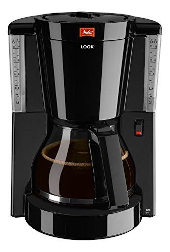 Glaskanne schwarz – Melitta 1011-02 Look Kaffeefiltermaschine -Tropfstopp