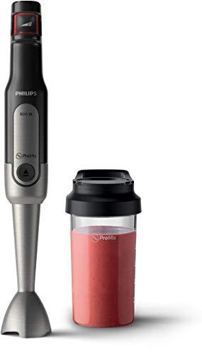 Philips Stabmixer Viva HR2650/90 800W, inkl. 2-in-1 ToGo Trinkflasche edelstahl