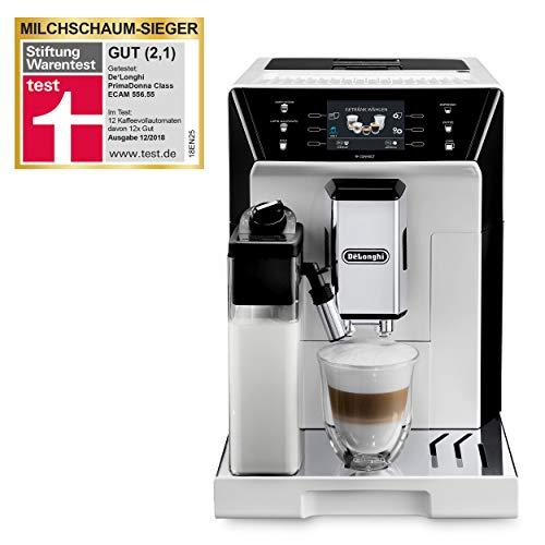 """De'Longhi PrimaDonna Class ECAM 556.55.W – Kaffeevollautomat mit integriertem Milchsystem, 3,5"""" TFT Touchscreen & App-Steuerung, automatische Reinigung, 36,1 x 26 x 46,9 cm, weiß"""