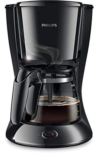 Philips HD7461/20 Daily Filter-Kaffeemaschine, abnehmbarer, ausschwenkbarer Filter, schwarz