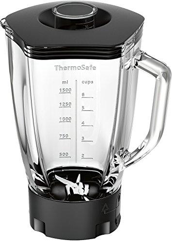 Bosch MUZ9MX1 ThermoSafe Glasmixer mit Edelstahl-Messer für Küchenmaschine OptiMUM