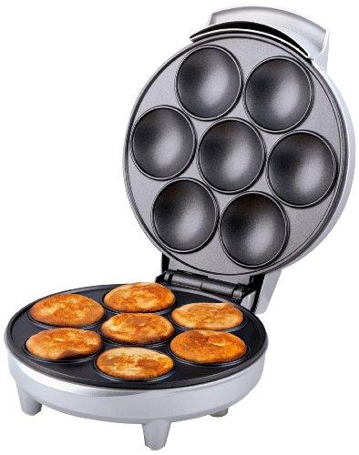 antihaftbeschichtet – Silber – Waffelautomat – Mini Pfannkuchen – Trebs 99260 Poffertjes-Automat – 700 Watt