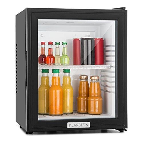Klarstein MKS-12 • Minibar • Mini-Kühlschrank • Getränkekühlschrank • A • 24 Liter • geringer Energieverbrauch • ca. 38 x 47 x 38 cm BxHxT • 30 dB leiser Betrieb • schwarz
