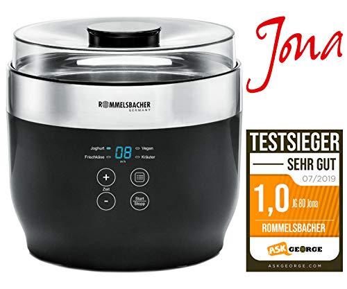 """ROMMELSBACHER Joghurt- und Frischkäsebereiter JG 80 """"Jona"""", inkl. 4 Keramik Portionsbecher à 125 ml, 2 XXL Glasbehälter à 1,2 Liter, 4 voreingestellte Programme mit unterschiedlichen Temperaturen"""