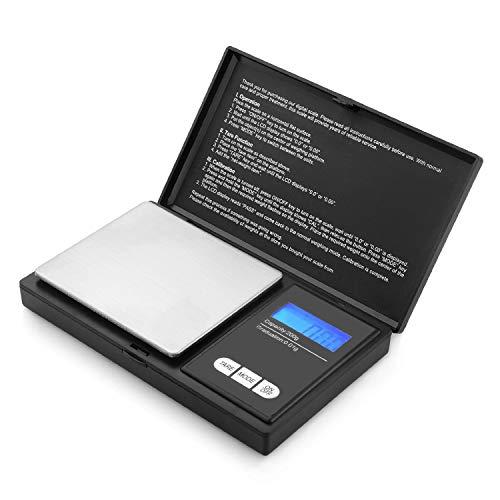 Xiancai 200g/0,01g Taschenwaage Digitale Taschenwaage, 200 x 0,01 g, Taschenwaage Feinwaage Digitalwaage Goldwaage Münzwaage