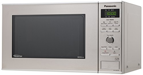 Panasonic Deutschland NN-GD37HSGTG Mikrowelle / 35.3 cm/Aqua Clean Programm/edelstahl/schwarz