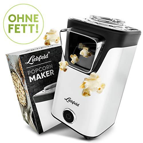 Liebfeld – Popcornmaschine für Zuhause I Popcorn Maker Machine inkl. Pop Corn Guide I Popcornmaker ohne Fett & Öl I Popcorn Popper