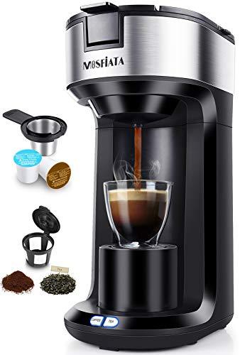 Kaffeemaschine MOSFiATA Filterkaffeemaschine 3-in-1 für Kaffeepulver, Kaffeekapsel, Tee Tropf-Stopp Automatische Reinigung Schwarz