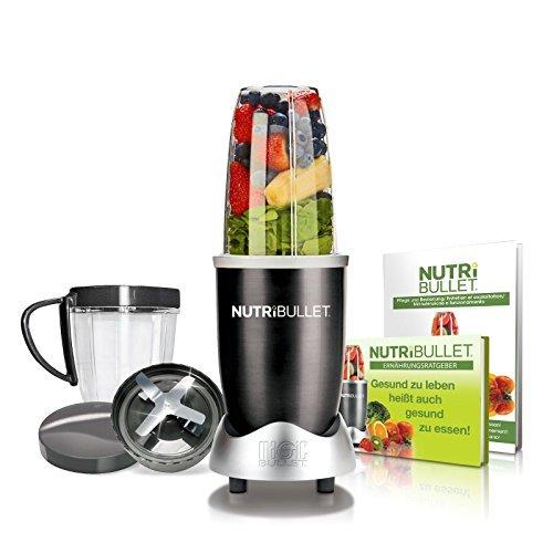 NutriBullet NBR-0840K Nährstoff Extraktor Gesundheits-Set, 600 W, 20.000 Upm Smoothie Maker, schwarz