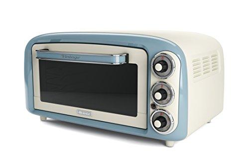 Ariete 979 05 Vintage Minibackofen Minobackofen, stainless_steel, 18 liters, Weiß, blau
