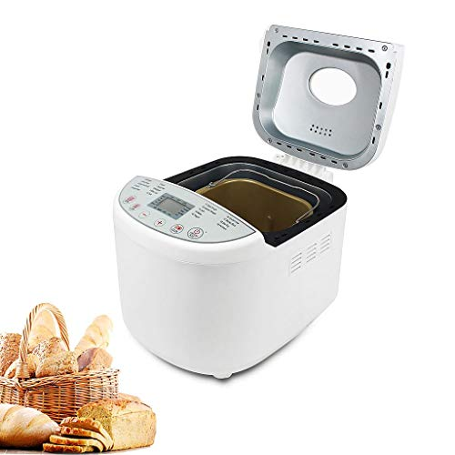 Sotech Brotbackautomat für vollkornbrot, digitales Display, programmierbarer Timer, 19 Automatik-Programmen, Teig-, Marmelade-, Glutenfrei-, Bräunungsgrad, Start-Verzögerungs-Funktion