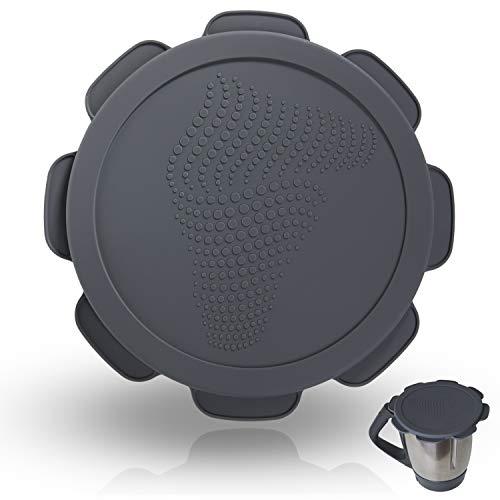 Silikon-Deckel für Vorwerk Thermomix TM5 TM6 Mixtopf. Wasser- und luftdichter Auslaufschutz. Mixcover das unverzichtbare Zubehör für ihre Küchen-maschine Rollercoaster Grey