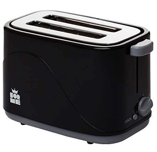 ForMe Toaster 700 Watt Brotröster I 4 Bräunungsstufen I Abbrechen Funktionen I Krümelschublade I Wärmeisoliertes I Gehäuse I BPA frei