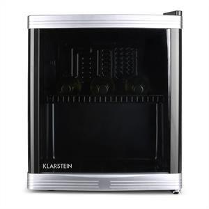 Minibar, Mini-Kühlschrank, Getränkekühlschrank, 46 Liter Volumen, 43x50x48 cm, flüsterleise, 5-stufiger Temperaturregler, bis zu 15 Flaschen, schwarz – Klarstein Beerlocker
