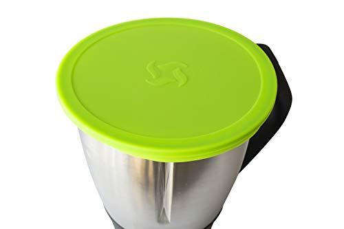 Wundermix Silikondeckel für Thermomix TM6 / TM5 / TM31 Mixtopf   Ø 20 cm   BPA-frei   Farbe: grün
