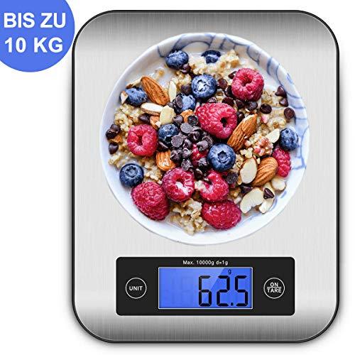 10kg Maximalgewicht – IceFrog Küchenwaage Digital Digitalwaage Digitale Küchenwaage Professionelle Waage Electronische küchenwage, Haushaltswaage mit LCD Display-wunderbare Präzision auf bis zu 5g