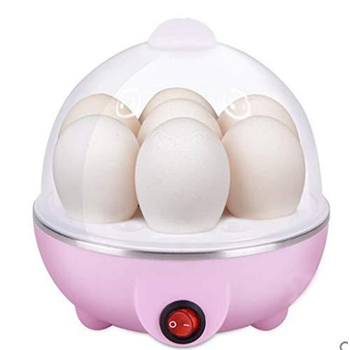 DreamJing Edelstahl Eierkocher,Elektrischer Eierkocher Egg Cooker Abschaltautomatik für 1-7 Eier gleichzeitig Rosa