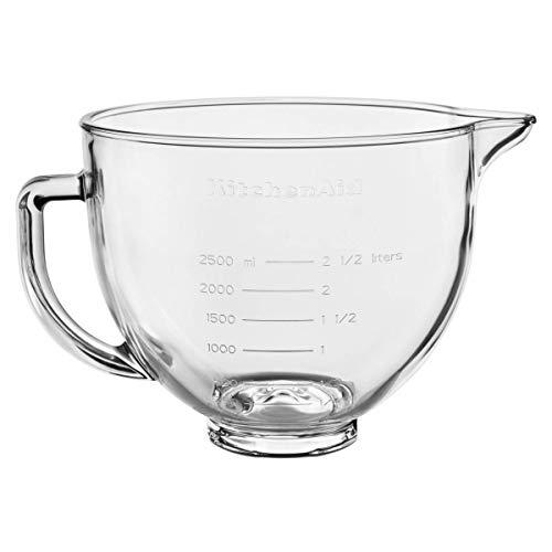 KitchenAid Glasschüssel Klar mit Griff/Silikondeckel, 4,8 L