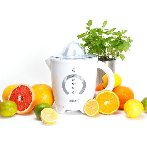 Entsafter – Orangenpresse – Citruspresse mit 2 Presskegel – Duronic JE4 elektrische Zitruspresse, 40 Watt