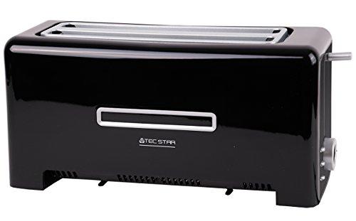 Toaster MD 15709, 1.200 bis 1.400 Watt, zwei Langschlitze, Aufwärm-, Auftau- und Stopptaste, Bräunungsgrad-Regler, schwarz