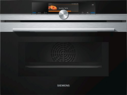 Siemens CN678G4S6 iQ700 Home Connect iQ526 Mikrowelle / 1000 W / 45 L Garraum / activeClean – Selbstreinigungs-Automatik / edelstahl