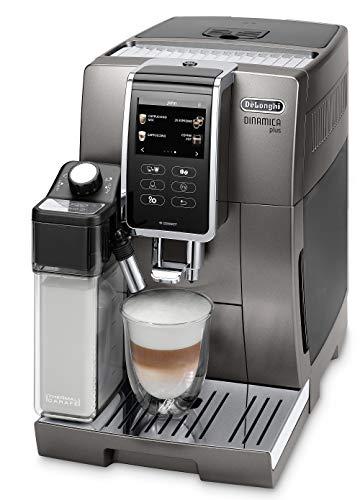 "De'Longhi Dinamica Plus ECAM 370.95.T – Kaffeevollautomat mit integriertem Milchsystem, 3,5""TFT Touchscreen & App-Steuerung, automatische Reinigung, Kaffeekannen-Funktion, 34,8×23,6×42,9cm, Titan"