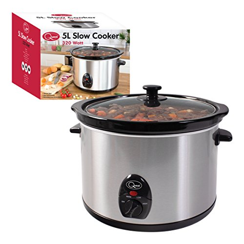 Quest Benross Quest Stainless Steel Slow Cooker, 5.5 Litre by Quest
