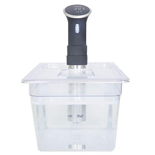 Sous Vide Tools SVT-PS11GN Behälter mit kundenspezifischem Deckel, Polycarbonat, 11,6 l, transparent