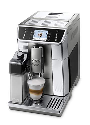 """De'Longhi PrimaDonna Elite ECAM 656.55.MS – Kaffeevollautomat mit integriertem Milchsystem, 3,5"""" TFT Touchscreen & App-Steuerung, automatische Reinigung, 37,5 x 26 x 48 cm, Edelstahlfront, silber"""