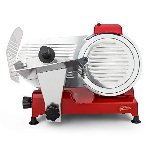 H.Koenig MSX254 professioneller Allesschneider für Schinken und Fleisch / elektrische Schneidemaschine Käse und Brot / Schnittdicke 0 – 12 mm / Schneideblatt 250 mm / Edelstahl