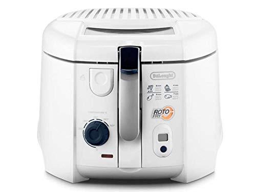 De'Longhi Roto-Fry F28533.W1 Rotofritteuse | Roto-Fry-System für 50 % weniger Öl | Easy Clean System | Antihaft-Beschichtung | mit herausnehmbarem Frittierbehälter | Timer | weiß