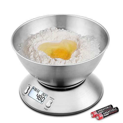 Uten EK4150 Küchenwaage, Edelstahl, digital, abnehmbar, Außentemperatursensor, Küchenwaage, 5 kg
