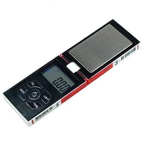 Trimming Shop Elektronisch Digital Multifunktionale Taschen Waage mit Ack-Lit LCD Display für die Küche, Schmuck, Edelsteine, Gold – Weiß, 12.8 x 2.5 x 7.8 CM, Weiß, 12.8 x 2.5 x 7.8 CM