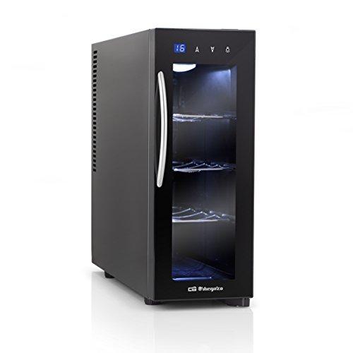 Orbegozo VT 415Weinschrank 4Flaschen, LED, 13L, 70W, 3herausnehmbare Böden verchromt, digitales Display und Touch Control Panel